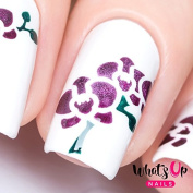 Whats Up Nails - Orchids Nail Stencils Stickers Vinyls for Nail Art Design