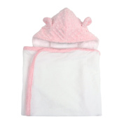 My Blankee Hooded Terry Towel Minky Dot, Pink, Infant Size