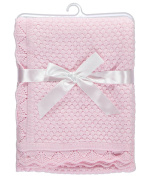 "Baby Dove ""Popcorn Knit"" Blanket - pink, one size"