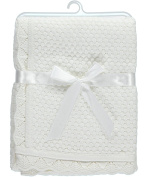 "Baby Dove ""Popcorn Knit"" Blanket - ivory, one size"