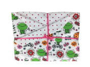 Happy Frogs Baby Blanket Blanket for Girls. Great for Newborn or Toddler. Baby Gift.