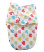 Happy Cherry Infant Lovely Sleepsack Baby Fleece Warm Swaddle Blanket Wrap,Heart White