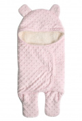 Happy Cherry New Style Lovely Baby Infant Super Soft Fleece Swaddle Blanket Wrap,Pink