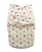Happy Cherry Infant Lovely Sleepsack Baby Fleece Warm Swaddle Blanket Wrap,Dot White