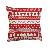 New Siniao Colourful Christmas Pillow Cover sentiment Pillowcases Embroidered Sofa Bed Waist Throw Cushion Cover Home Decor