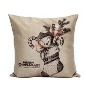 New Siniao Christmas Pillow Case Sofa Bed Waist Throw Cushion Cover Home Decor