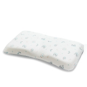 Baby Pillow(25cm ×41cm ) Supports Head & Neck with Removable Cotton Pillowcase,3D Groove Shape Design Prevent Migraine and Flat Head,for Toddler in Crib,Bed,and Chair