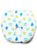 """BABY NURSERY PILLOW """" NEW ROUND SHAPE INFANT LATEX PILLOW # 10cm NON TOXIC MATERIAL."""