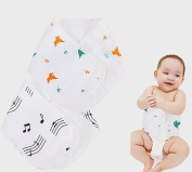 Fairy Baby Newborn Bibs Soft Navel Guard Girth Belt Baby Care Accessories Pack of 2