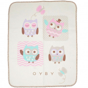 OYBY Owl Mini Waterproof Sheet Protector for babys, Portable Changing Pad 80cm x 70cm Pink