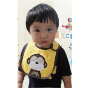 luck bear moder Male baby 0-1-2 year-old baby waterproof boy bib Blech newborn children small mouth mouth infant baby food mouth water towel wholesale(Random Colour)