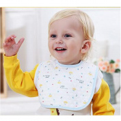 luck bear moder 0-1 year-old baby double-layer buckle waterproof bib neonatal bibs infant mouth water towel food rice pocket wholesale