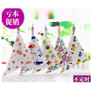 luck bear moder 1pcs Child's mouth water towel Infant children triangular scarf