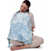 Boppy Nursing Cover - Available in Multiple Patterns, French Swirl Blue