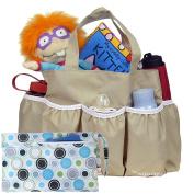 kilofly Nappy Bag Insert Organiser, Multiple Pockets, Khaki, + Wet Dry Bag Value Combo