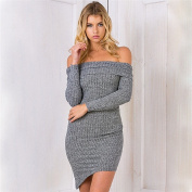 Long Sleeve Knitted Bodycon Stretch Party ladies dress