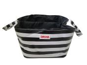 Danha Black & White Stripe Nappy Storage Caddy