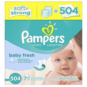 Pampers Softcare refreshing scent Baby Fresh Wipes 7x box, 504 Count