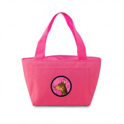 Caroline's Treasures SS4744-PK Doberman Lunch or Doggie Bag, Large, Pink