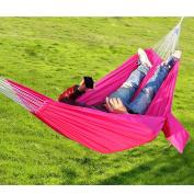 Portable-Parachute-Nylon-Fabric-Hammock-Travel-Camping Rosd Red