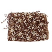 JYS Newborn Maternity Props Lace Photography Photo Props Quilt Stretch Wrap - Coffee