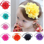 Shineweb 8Pcs Baby Girl Toddler Headbands with Hair Bow for Take Photograph