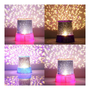 (PINK) Kids Bedroom Night Starry Projector Lamp Master Sky Star LED Light Romantic Gift Night Lights