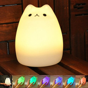 IREALIST Rechargeable Multi-Colour Change Silicone LED Sensitive Tap Control Night Light for Home Decor, Baby Adults Bedroom