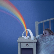 JCare Fashion Rainbow Light For Child Girls LED Rainbow Night Light Projector Romantic Projection Lamp Night Light Atmosphere AAA lamps