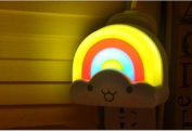 Creative Gift Clouds and Rainbow Cloud Shaped Sensor LED Night Light,Two Type Wall Sticker Decorative Lamps