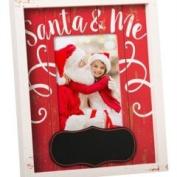 Evergreen Santa and Me Chalkboard Wooden Photo Frame