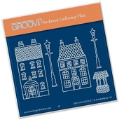 Groovi Wee Houses and Lamp Posts A6 Plate - Laser Etched Acrylic for Parchment Craft