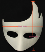 ALL in ONE Blank White Mask Women Masquerade Mask for DIY Costume Party