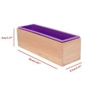 LAYs DIY Soap Mould,Silicone + Wooden,Square for Kids Toast Loaf Baking Cake Cold Process