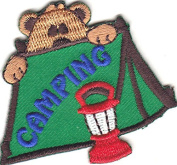 """CAMPING"" - TRIP - VACATION - OUTDOORS CAMP - IRON ON EMBROIDERED PATCH"