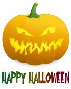 Halloween Heat Transfar Pumpkin Iron-On Heat Transfer for White Material, 100cm x 28cm