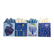 Set of Hanukkah Gift Bags and Tissue Paper