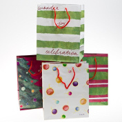 4 Pack Medium Holiday Gift Bags