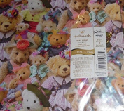 Vintage Hallmark Teddy Bears Pkg Gift Wrap & Bows - Any Occasion