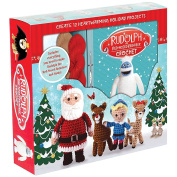 Rudolph the Red-Nosed Reindeer and Santa 12 Characters Holiday Crochet Kit