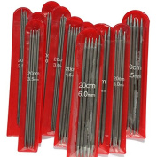 "Z-colour 11 Sizes 55Pcs 7.9"" Double Pointed Stainless Knitting Needles Set 2 MM -6.5 MM"