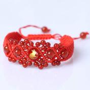 Original Chinese Ancient Style Red String Agate Bracelet ,Handmade Chinese zodiac charm bracelet Rabbit FP5001210