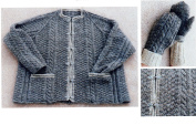 Maine Raglan Jacket & Mittens - Dawn Brocco Knitwear Designs Knitting Pattern