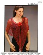 Fiesta Knitting Pattern Shoulder Scarf / Shawl - Easy Beginner Knit, Garter Stitch