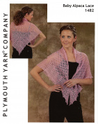 Plymouth Knitting Pattern 1482 - Ms Beans Lace Shawl