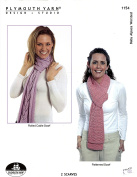 Plymouth Knitting Pattern 1154 - 2 Scarves