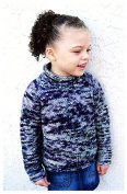Knitting Pure & Simple Knitting Pattern #112 - Children's Bulky Top Down Pullover, Fast & Easy