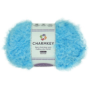 Charmkey Smooth Fur Yarn Super Soft Feeling 5 Bulky Fluffy Solid Colours Knitting Craft Polyester Fuzzy Nylon Yarn for Sweater Shawl Scarf Animal Toys and More, 1 Skein, 100ml