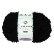 Charmkey Super Soft Feeling 5 Bulky Fluffy Smooth Fur Yarn Solid Colours Knitting Craft Polyester Fuzzy Nylon Yarn for Sweater Shawl Scarf and More, 1 Skein, 100ml