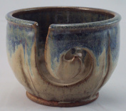 Midnight Sun Pottery Yarn Bowl Blue Ridge Beige